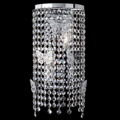 Настенный светильник Eurosvet 10015/2 хром/прозрачный хрусталь Strotskis
