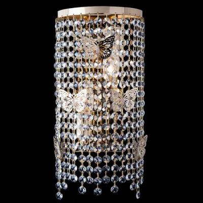 Настенный светильник Eurosvet 10015/2 золото/прозрачный хрусталь Strotskis